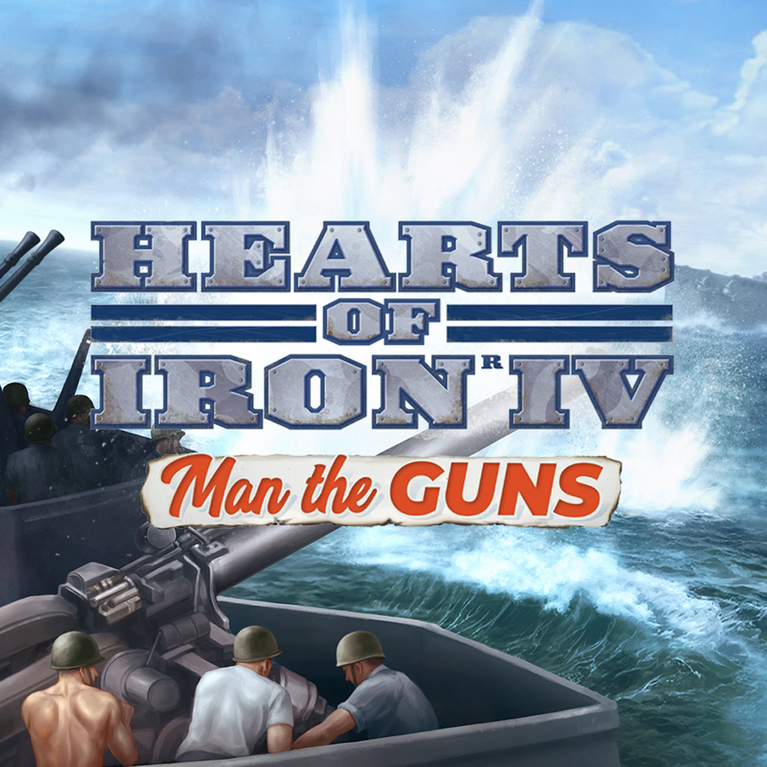 Hearts of Iron IV Man of Guns logo